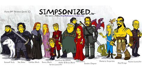 Simpsons Of Thrones by L Image Du Dimanche Les Personnages De Of Thrones