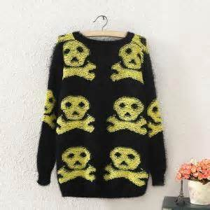 Sweater Dc Block Skull skull sweater sweaters 13 14 fashion batwing sweater black sweater on luulla