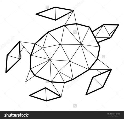 Geometric Turtle Coloring Page | geometric turtle google search diy pinterest