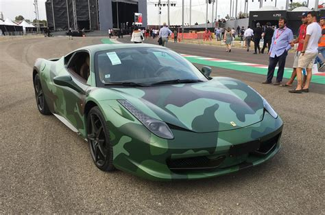 camo ferrari in pictures ferrari s 70th celebrations