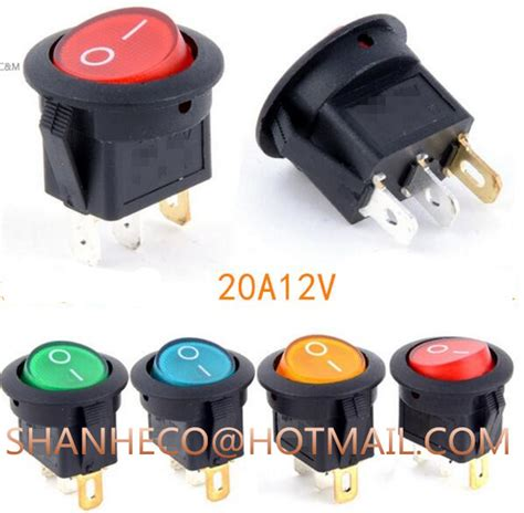 Saklar Onoff Lu 12v led illuminuted rocker switch 20a 12v push button
