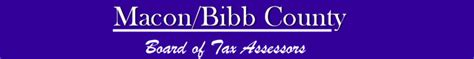 Bibb County Property Tax Records Bibb County Tax Assessors