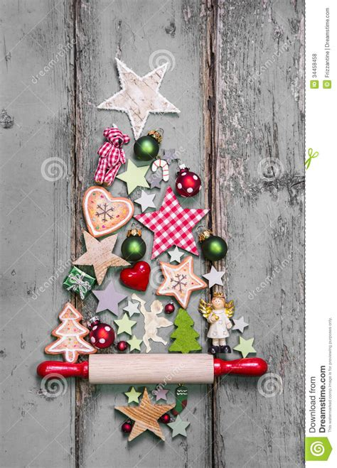 christmas tree decoration  shabby chic style  idea
