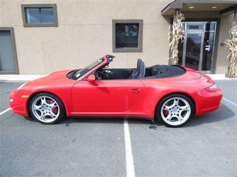 red porsche convertible 2007 porsche 911 c4s convertible for sale guards red