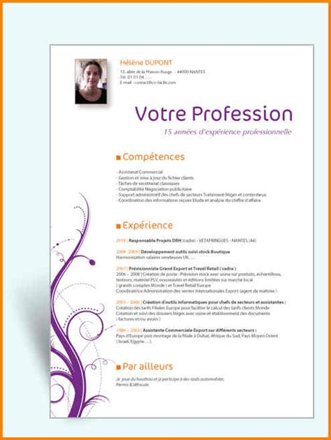 Modele De Lettre Word Gratuit 10 Mod 232 Le Cv Original Gratuit Word Format Lettre