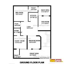 1 Gaj In Sq by House Plan For 35 By 50 Plot Plot Size 195
