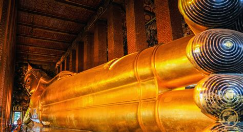 Buddha Reclining by The Temple Of The Reclining Buddha Wat Pho Bangkok