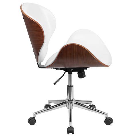 Wicker Desk Chair Knox Modern White Walnut Office Chair Eurway Modern