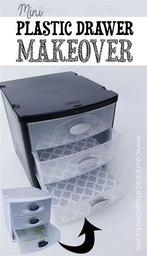 table top plastic storage drawers plastic drawers makeover for desk organizing