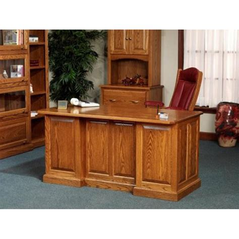 Oak Office Furniture For The Home 860 Executive Desk 54 860 Amish Oak Office Furniture Made In Usa Outlet Discount Furniture