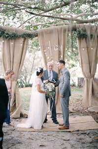 Outdoor wedding ceremony backdrop ideas belle amp chic