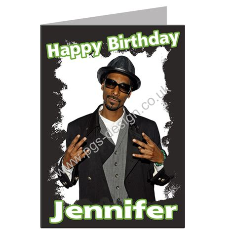 Snoop Dogg Birthday Card Snoop Dogg Birthday Card A5 Personalised Pgs1550gc