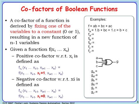 nanoHUB.org - Resources: ECE 595Z Lecture 5: Advanced ... C- Boolean Function Examples