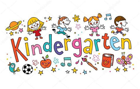 kindergarten images kindergarten unique lettering with stock