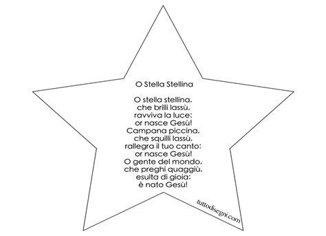 stella stellina la notte si avvicina testo filastrocche natale o stella stellina tuttodisegni