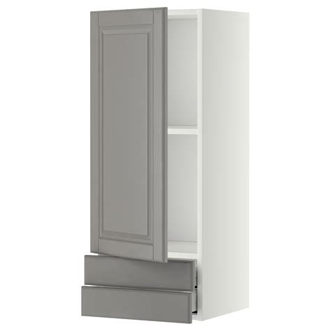 Metod Maximera Wall Cabinet With Door 2 Drawers White White Two Door Cabinet
