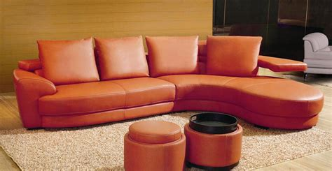 orange sectional sofa ev 3338 contemporary sectional sofa in orange color black design co