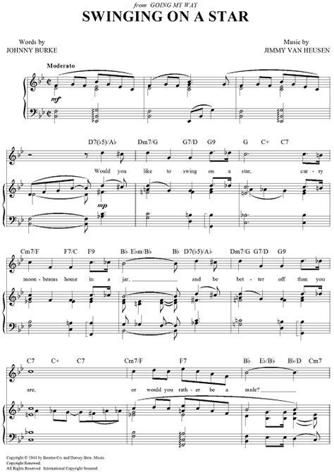 swinging on a star frank sinatra lyrics 16 best partituras images on pinterest sheet music