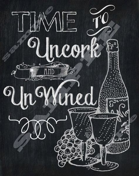printable wine quotes chalkboard style wine quote art printable sign by