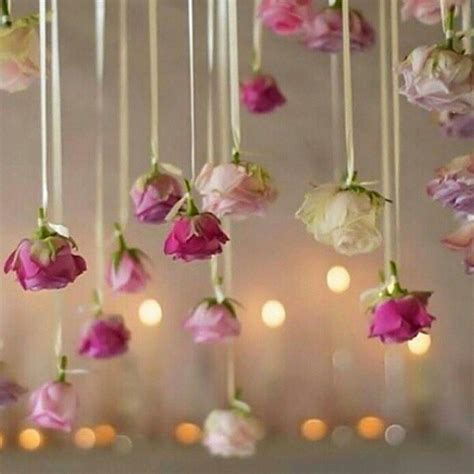 flower decoration in wedding trend alert hanging flowers give your wedding a magical