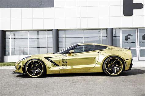 corvette stingray gold forgiato widebody corvette stingray shines bright