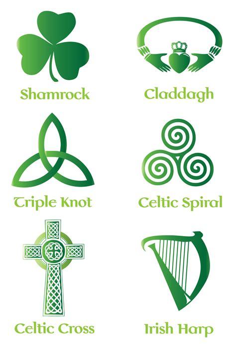 irish celtic symbol vector set backgrounds buttons
