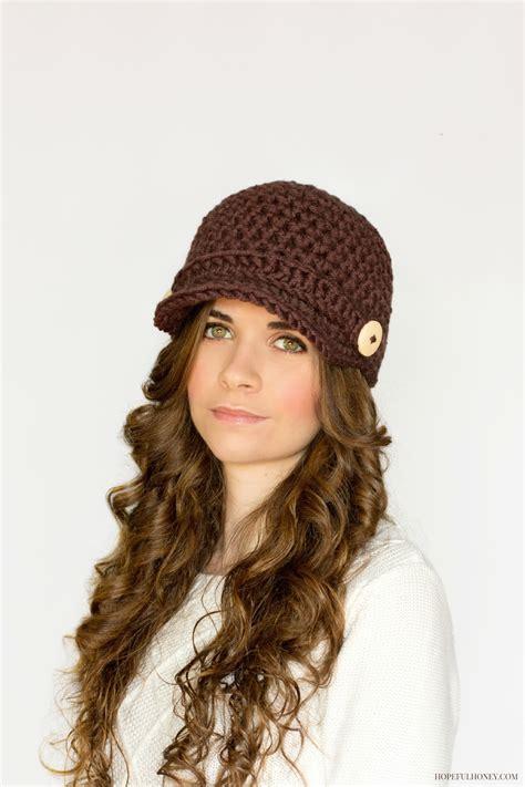 free pattern newsboy hat nifty newsboy hat crochet pattern hopeful honey craft