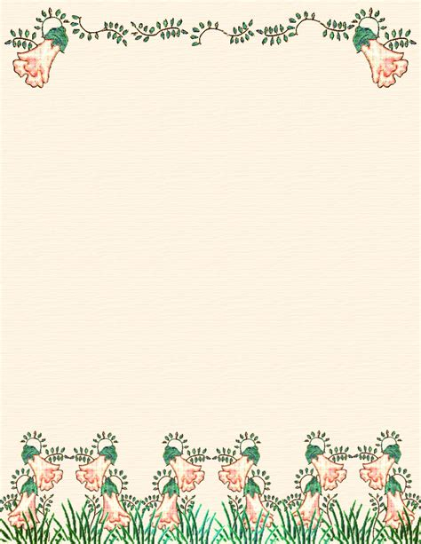 spring stationery themed downloads pg