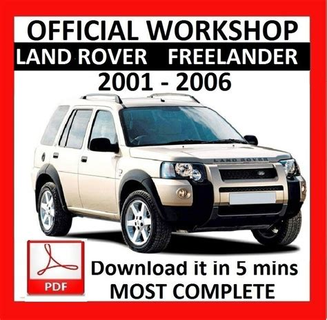 car repair manuals online free 1993 land rover range rover on board diagnostic system gt gt official workshop manual service repair land rover freelander 2001 2006 5010960489178 ebay