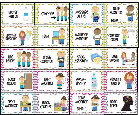 printables for kindergarten classroom classroom jobs printable water patrol 2 caboose