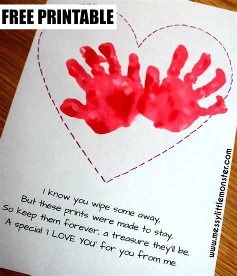 preschool valentines day poems handprint keepsake poem