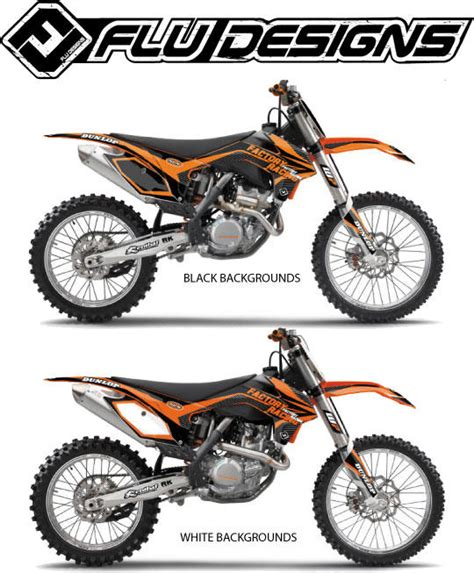 flu design graphics review flu designs 2013 ts1 graphic kit ktm bto sports