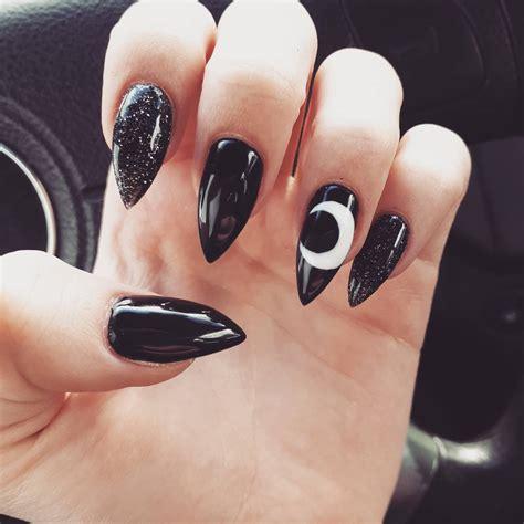 imagenes uñas negro con dorado 25 dise 241 os de u 241 as negras para las chicas con m 225 s estilo