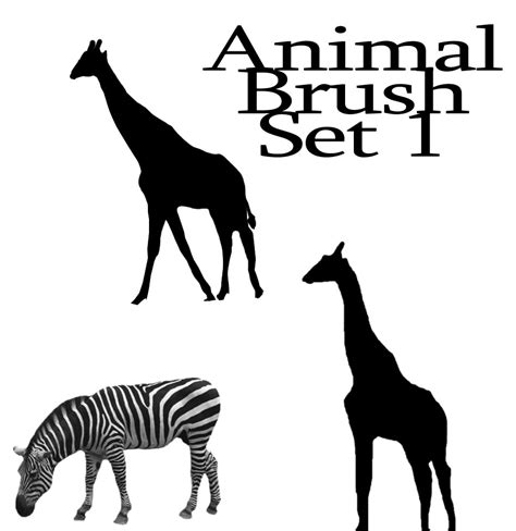 zebra pattern photoshop brushes animal brush set 1 by xxgrimxx on deviantart