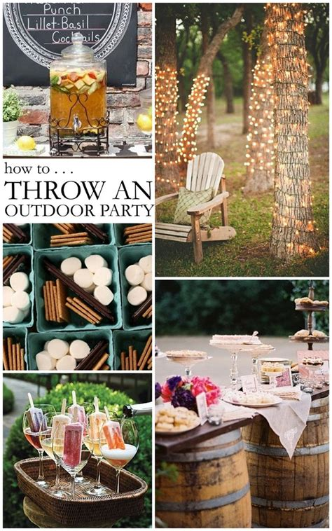 outside party ideas great ideas for outdoor parties party ideas pinterest