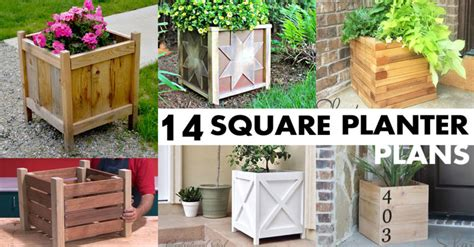 planter design 14 square planter box plans best for diy 100 free