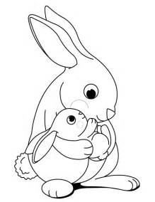 baby rabbit coloring pages rabbit coloring pages