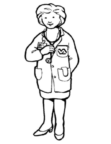 doctor coloring pages preschool a doctor coloring page coloring home