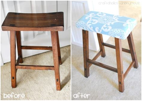 Diy Bar Stool Makeover by Craftaholics Anonymous 174 Cowhide Stool Makeover