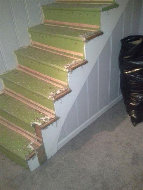 Towson Upholstered Stairs And Carpet In Basement
