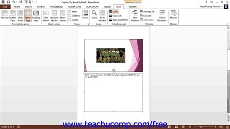 microsoft powerpoint tutorial notes powerpoint 2013 tutorial notes page view microsoft