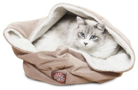 burrow bed microvelvet burrow bed modern cat beds by majestic pet products