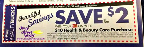 tops grocery coupons printable tops markets 2 00 health beauty store coupon