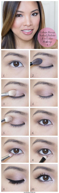 eyeliner tutorial everyday urban decay naked palette everyday makeup tutorial