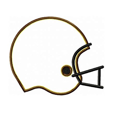 Football Helmet Outline Profile by Big Dreams Embroidery Football Helmet Machine Embroidery Applique Design Pattern
