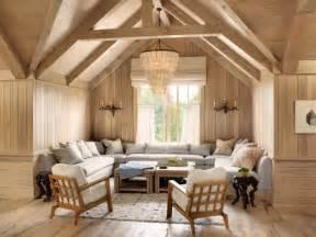 Délicieux Banc De Cuisine Design #6: lambris-murs-plafond-solives-meubles-bois-massif-clair.jpg