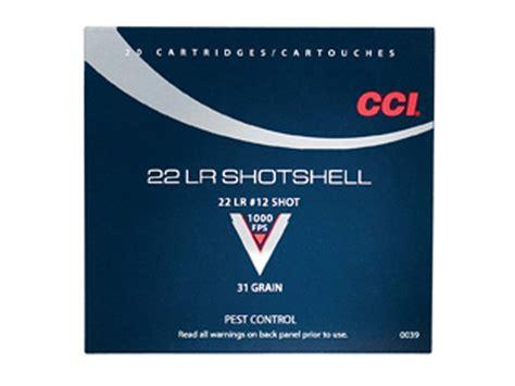 22 long rifle rat shot cci shotshell ammo 22 long rifle 31 grain 12 shot box of 20