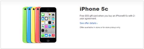 Iphone Best Buy Gift Card - best buy offering free 50 gift card on iphone 5c purchase redmond pie