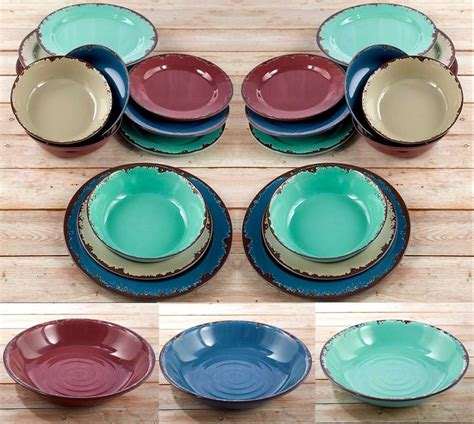 plates dishes rustic dinnerware service dishes bowls salad dinner plates