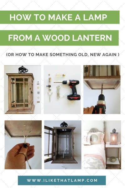 diy bedside lamp    wood lantern